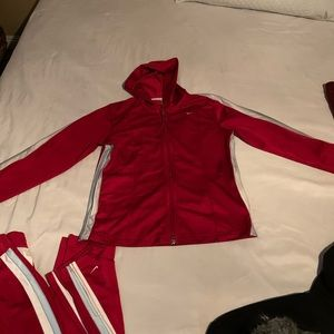 Red Nike Track Suit